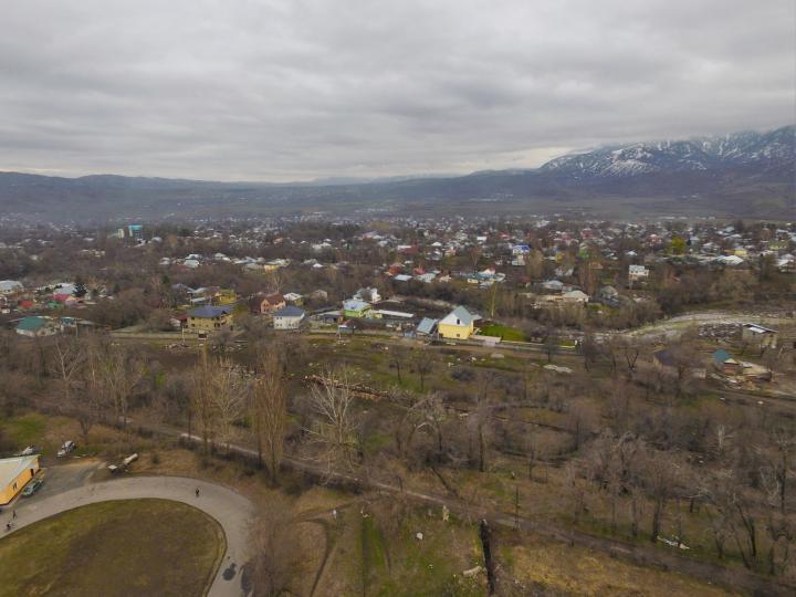Талгарский парк, вид сверху