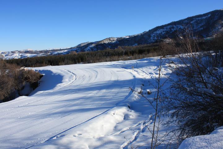 Верхняя точка  лыжно-биатлонной трассы   лыжного стадиона  .
