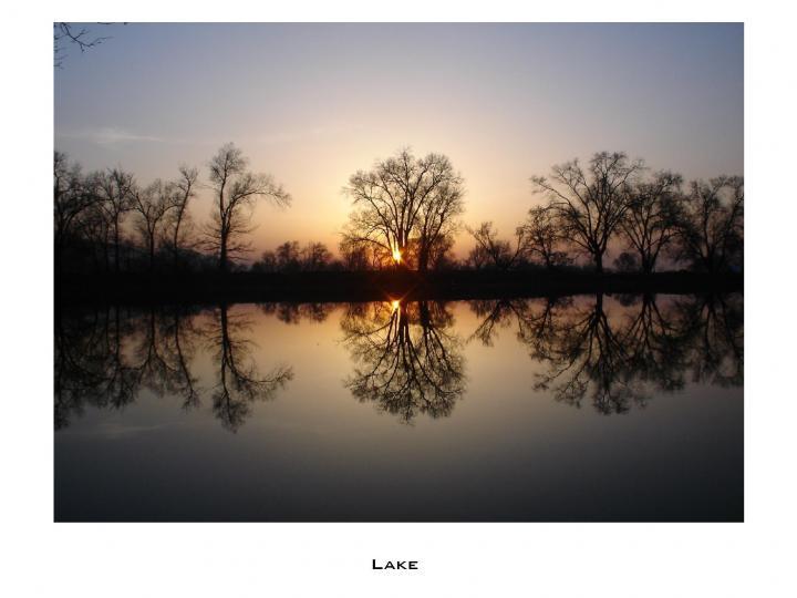 Озеро в Парке города Талгар 2005 год